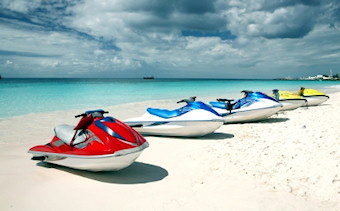 watersports on barbados beach