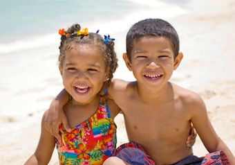 barbados children on holiday